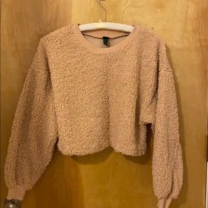 Wild Fable Sherpa Cropped pullover